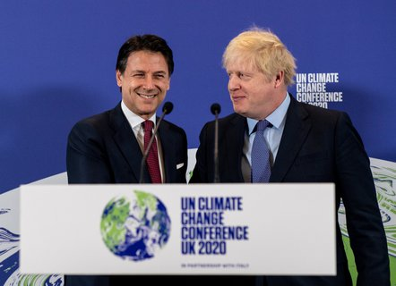 Looking forward too soon: Boris Johnson (right), Prime Minister of Great Britain, and Giuseppe Conte, Prime Minister of Italy, should host the climate conference with their countries.
