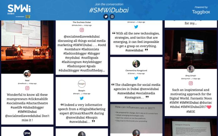 Social Wall on website