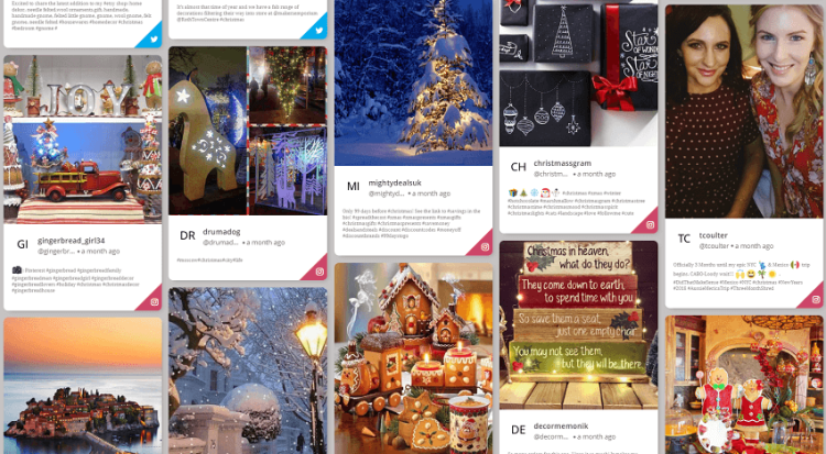 Christmas hashtag feeds