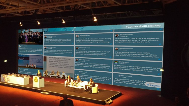 Social Wall for convocation ceremonies