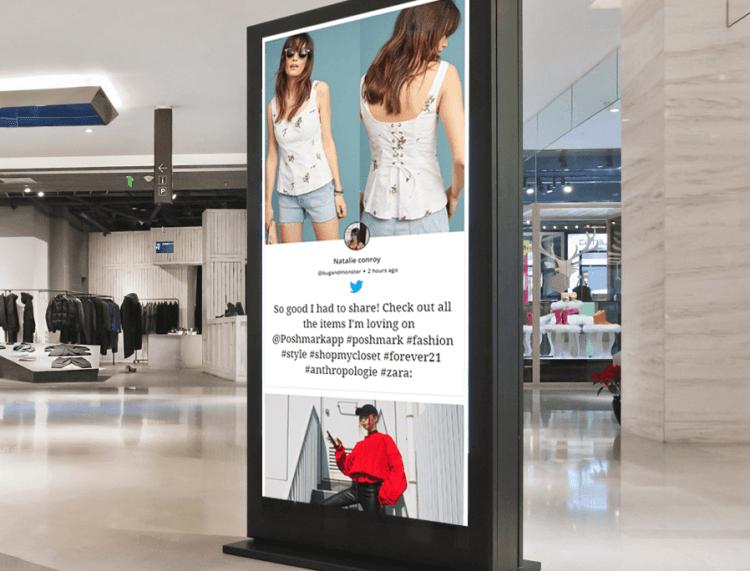Social Wall on Kiosk