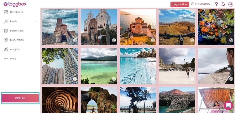display Instagram Feeds on website