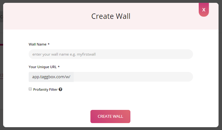Enter Instagram wall name
