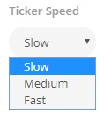 Ticker speed