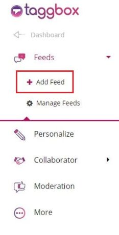 Feeds Option