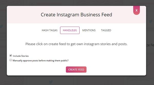 Instagram Handle posts