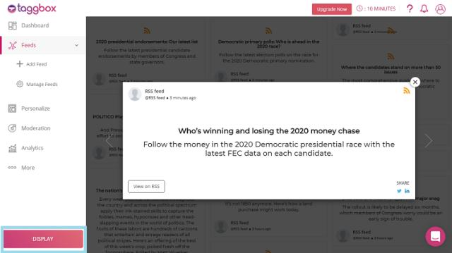 Embed RSS feed on wordpress