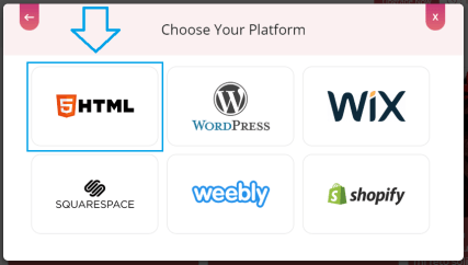 Choose HTML for embedding Vimeo feed