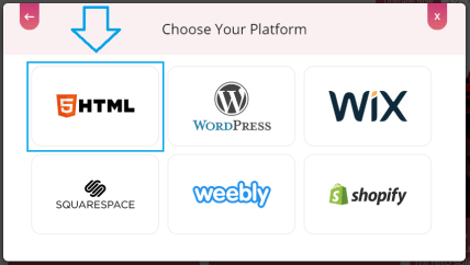 Choose HTML for embedding Yelp feed