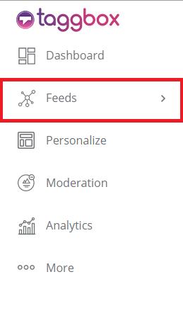 sidebar options select feeds