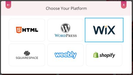Embed Workplace Feed on WIX Website, Choose embed platform Wix