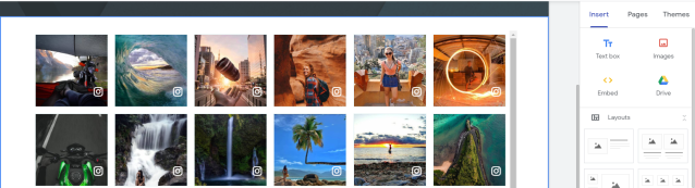 Display Instagram feed on Google site