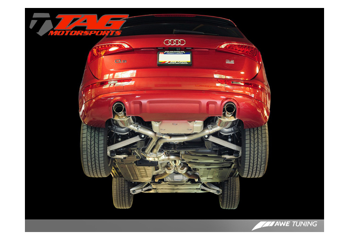 awe tuning audi q5 3 2l non resonated exhaust system