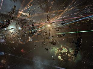 A crowded battlefield