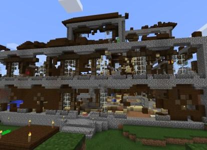 Burned mansion front