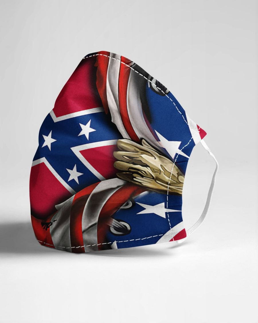 southern united states confederate flag cloth mask