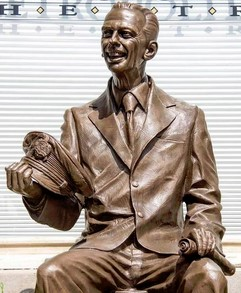 KNOTTS LANDING--Don Knotts statue, unveiled in Morgantown, W.V., on July 23.