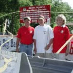 COME FISH COME--Tippi (Mrs. Denver) Pyle with a couple of contestants ready to hook some bass.