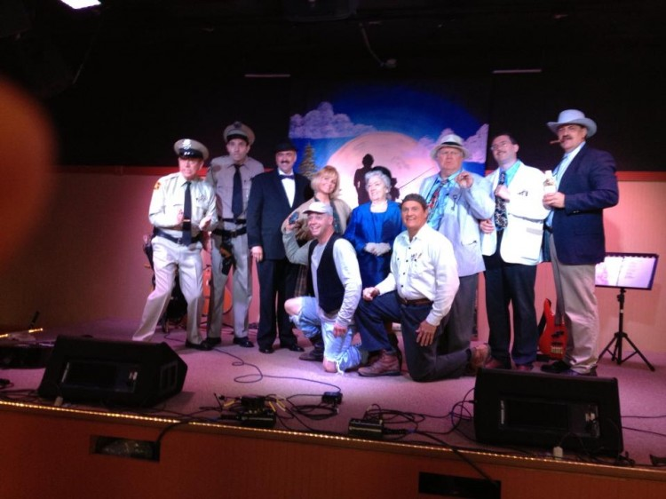 A full bunch of Mayberry Tribute Artists on stage for a show at the Mayberry Comes to Westminster festival in April.