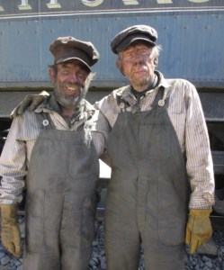 Rance Howard (right) with Martin Palmer on the Lone Ranger set in May 2012.