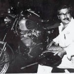 Bobby Falk working on another Harley.
