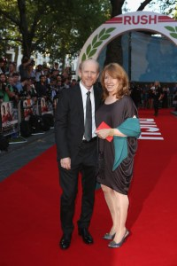 Ron and Cheryl Howard on the red carpet for the  Rush world premiere at London's Odeon Leicester Square on September 2.