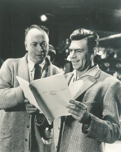 Writer Harvey Bullock looking over a script with Andy on the TAGS set.  A few of the classic scripts written by Harvey are among those in this collection.