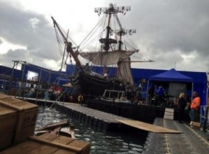 This is shot Ron Howard tweeted from the set of In the Heart of the Sea, now filming in London.