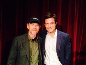 Ron Howard tweeted this photo of himself with actor (and now movie director) Jason Bateman after a screening of Jason's new film Bad Words in New York last week. Follow Ron on Twitter @RealRonHoward.