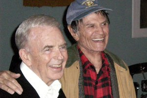 F TROOP BUDDIES--Kenny Berry (left) and Larry Storch.