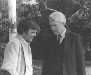 "Jimmie with James Stewart in the TV series ""Hawkins."""