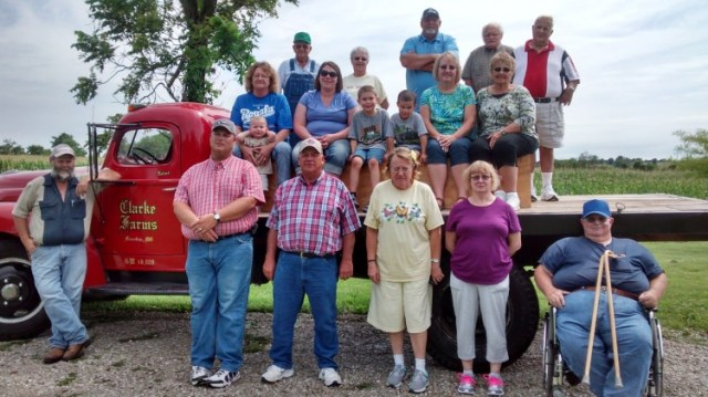 ALMOST EVERYBODY ON THE TRUCK--Blood Brothers chapter picked a 1949 International truck for staging their group photo earlier this month.