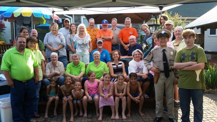 """COOKOUT CREW--In this photo of """"Shakedown!  Shakedown!"""" you'll find one Barney, one Howard, lots of Opies and Opiettes, a few Fun Girls, an Aunt Bee or two, and a bunch of Goobers!  Photo courtesy of Dewey Lamb."""