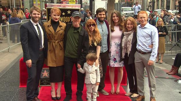 ALL IN THE FAMILY--Ron with three generations of his family at the Walk of Fame ceremony.