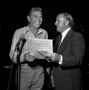 Andy Griffith and Dick Linke in the 1970s.