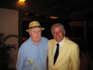 OLD FRIENDS--Dick with best pal Tony Bennett in 2011. Photo by Bettina Linke.