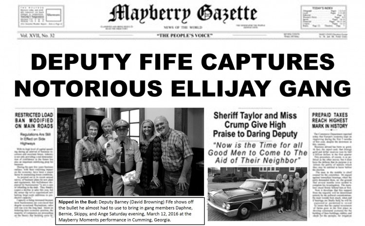 EXTRA! EXTRA!--Even before they were officially a chapter, members of our newest group in Ellijay, Ga., was already making headlines last March!