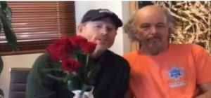 HOWARD BOYS ROSE TO THE OCCASION--Ron and Clint Howard (in his 2015 Mayberry Days T-shirt) made a birthday video for Betty Lynn. It was shown to the large crowd that gathered with Betty at the Earle Theatre in Mount Airy last month. You can see it on TAGSRWC's Facebook page in one of the posts from Aug. 29.