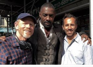 STARS ALIGN--Ron Howard tweeted this photo on the set for Stephen King's Dark Tower in New York City in July with actor Idris Elba and director Nikolaj Arcel. (Ron and Imagine are among the film's producers.) Follow Ron on Twitter @RealRonHoward.