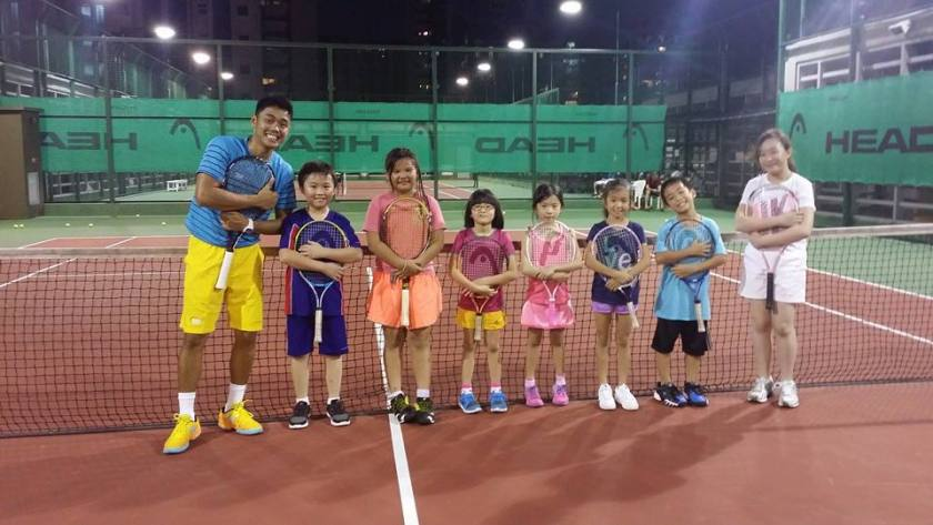 Group Junior Tennis Lesson at Chinese Swimming Club