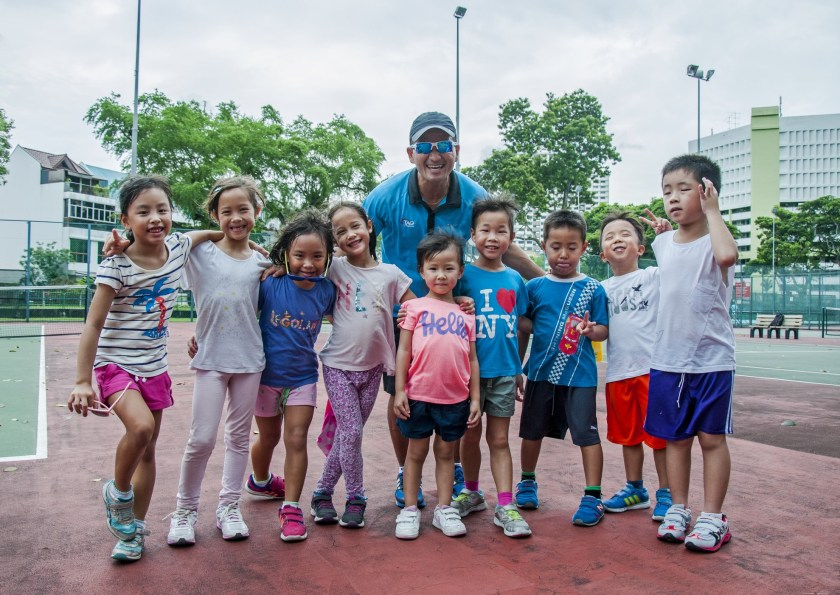 Group Tennis Lessons in Singapore with TAG International Tennis Academy