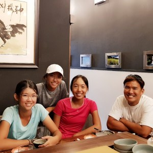 Coach xt with Julienne Goh, Claire Chan and Lim Lerr Min. TAG International Tennis Academy. Best Nutrition and Diet advice for elite competitive tennis players for peak athletic performance.