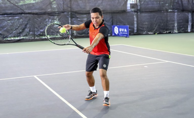 TAG Tennis Academy Coach Dave Backhand Volley