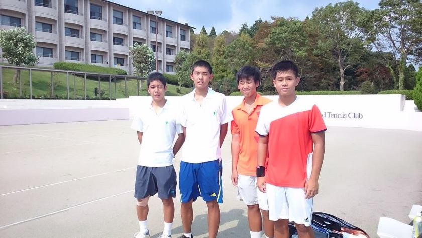 Coach XT and Coach Bo Alburo with Isaac Ong and Sherwin Foo in Chiba, Japan for Asian Youth Challenge