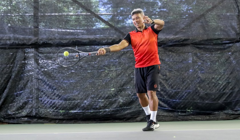 Coach Peter Egos plays a Counterpuncher Style of Tennis