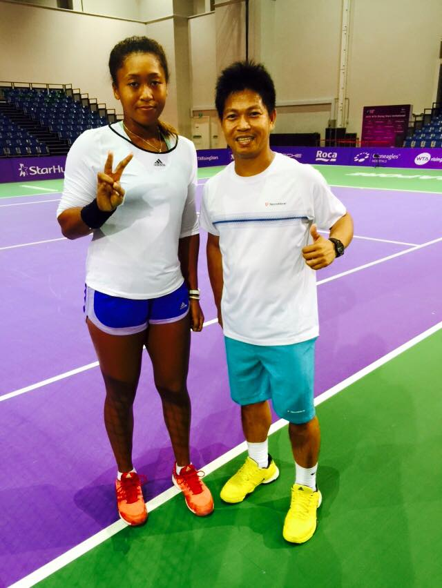 Rocky Paglalunan with Naomi Osaka