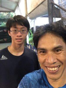 Coach Bo Alburo Lourelu Adlawan Mari coaching Evan Lee