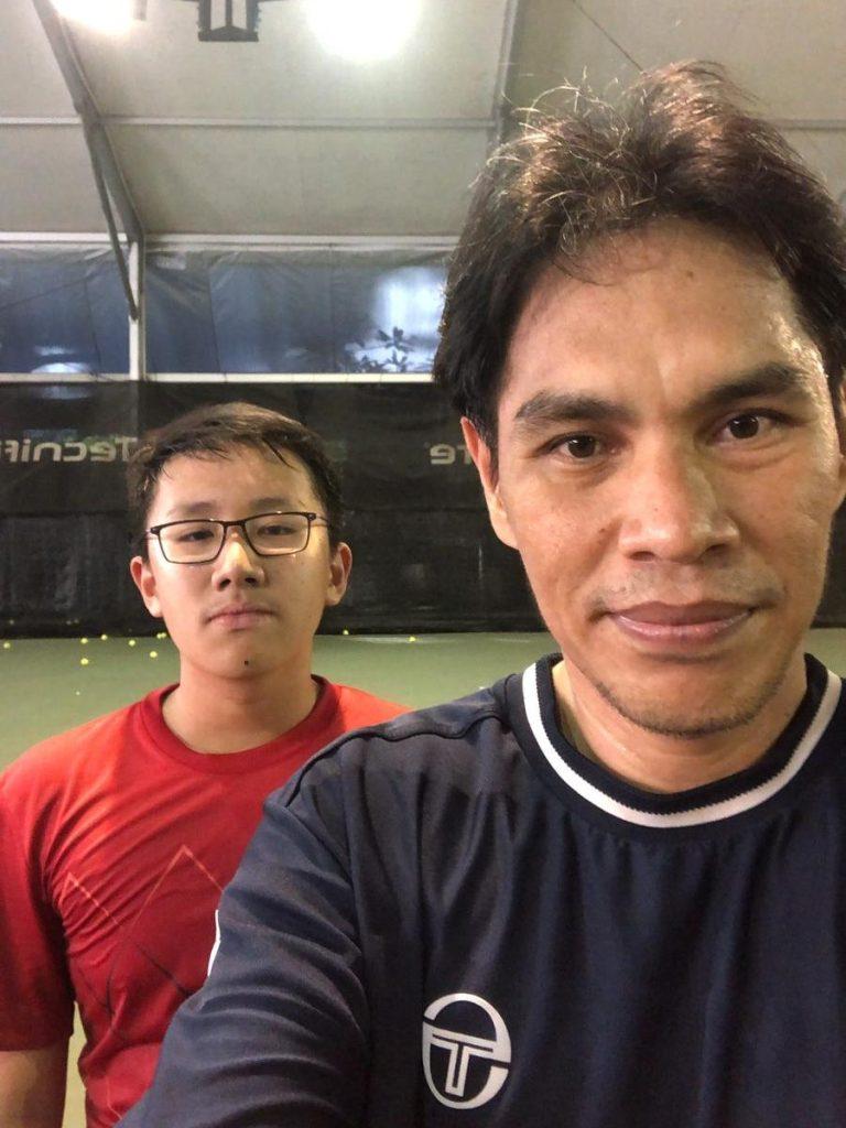 Coach Bo Alburo Lourelu Adlawan Mari coaching Junior Mathew Fangiono