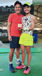 Coach XT tennis student Charlotte Yeo - top singapore junior category