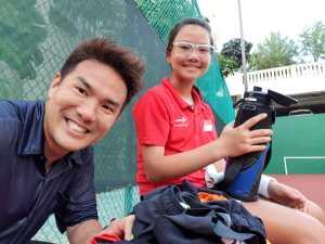 Coach XT tennis student Charlotte Yeo - top singapore tennis junior